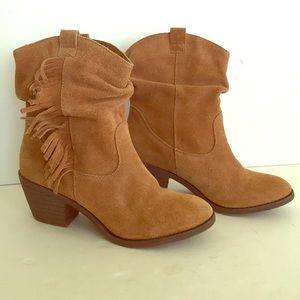 Limelight Shania leather fringe boots